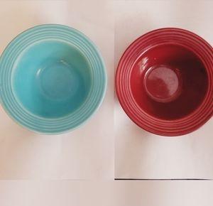 Vintage Bauer Ringware Berry Bowls